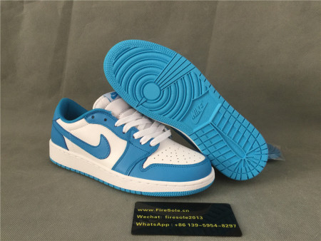 Authentic Nike SB Air Jordan 1 Retro Low QS Blue/White
