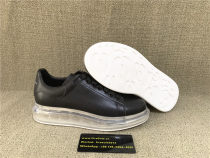 Authentic AIex.McQuen Black shoes with Clear Outsole