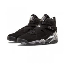 Authentic Air Jordan 8 Retro GS Silver Black