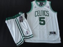 The celtics suits #5 white