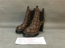 Authentic LV Boost High Heels Brown