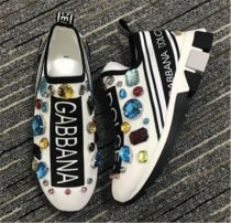 Authentic D&G Sneakers White with Diamond