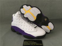 Authentic Air Jordan 13 Retro White Court Purple