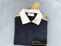 Authentic GuccI Polo Stripe Shirt Navy Blue