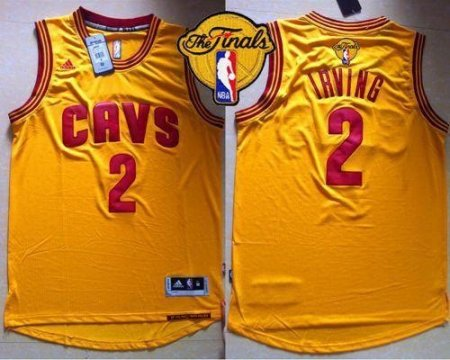 online store d1a6e 0720c Revolution 30 Cleveland Cavaliers #2 Kyrie Irving Gold The Finals Patch  Stitched Youth NBA Jersey