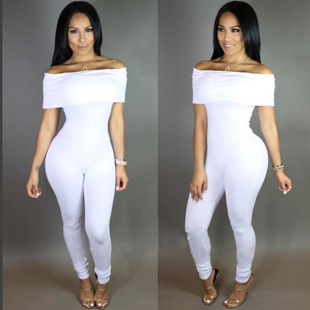 abc1bc5e90e1 US$ 5.75 - Off Shoulder White Sexy Jumpsuits 20205-2 - www.global ...