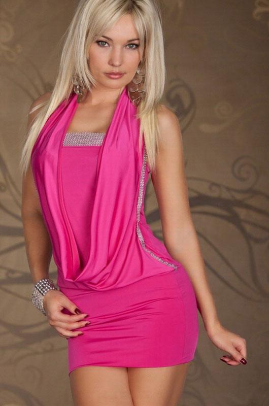 Plus Size Club Dresses Sequin Front 11597-2