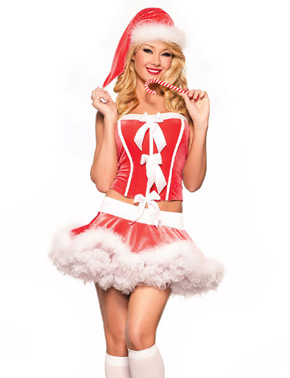 31d53a00370 US  9.3 - Sexy Santa Corset And Mini Skirt 12823 - www.global-lover.com