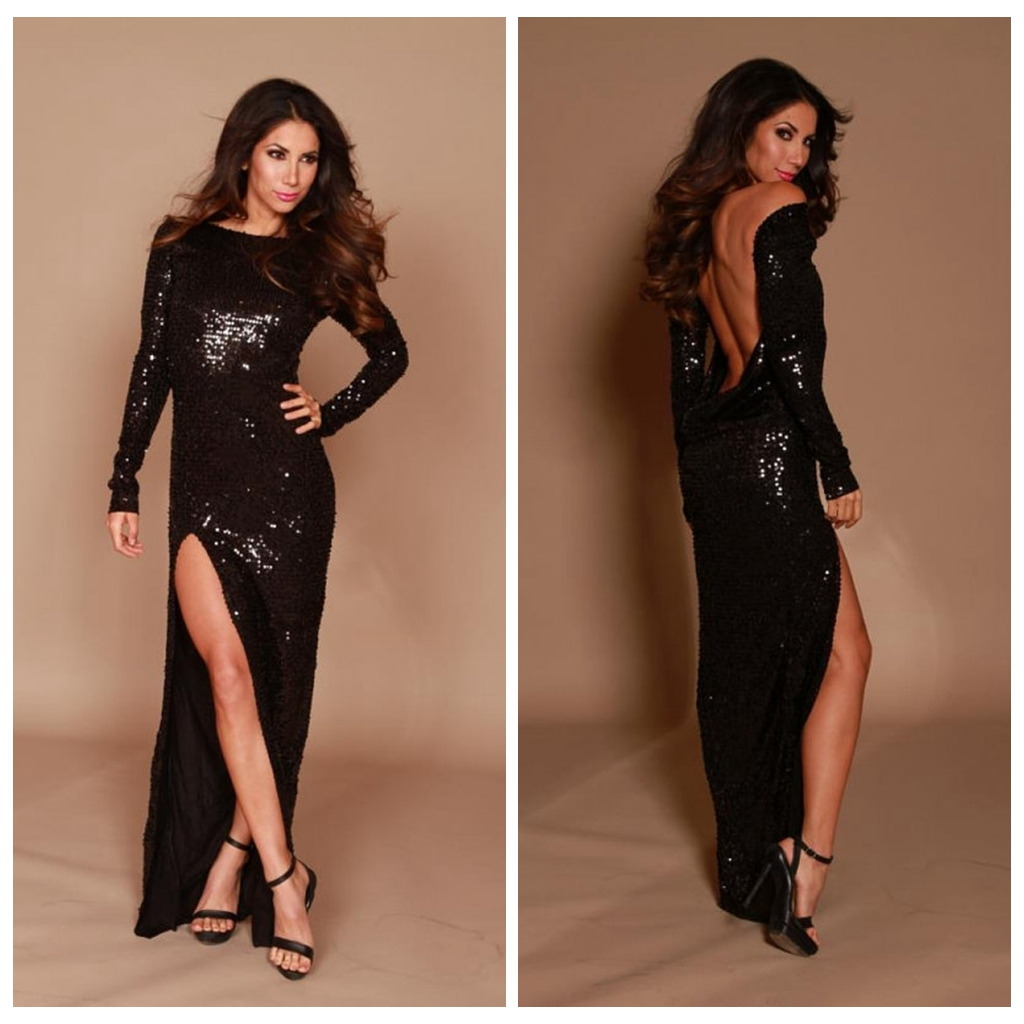 Платье Черное Блестящее Купить