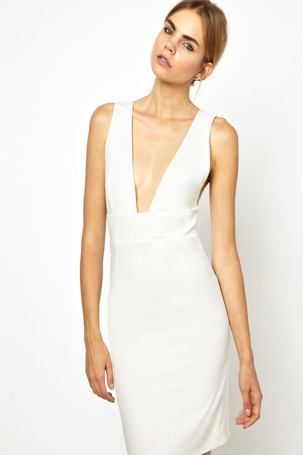 ca6f699e819 US  8.5 - Sexy White Bandage Bodycon Stretch Party Dress 13091 -  www.global-lover.com