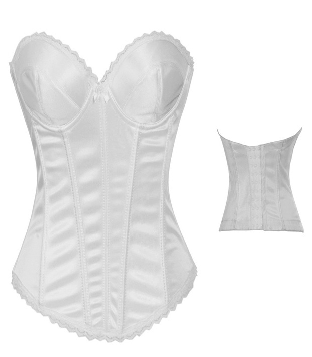 b520ddb19bb26 US  8.3 - Plain White Corset Top Bustiers 12705 - www.global-lover.com