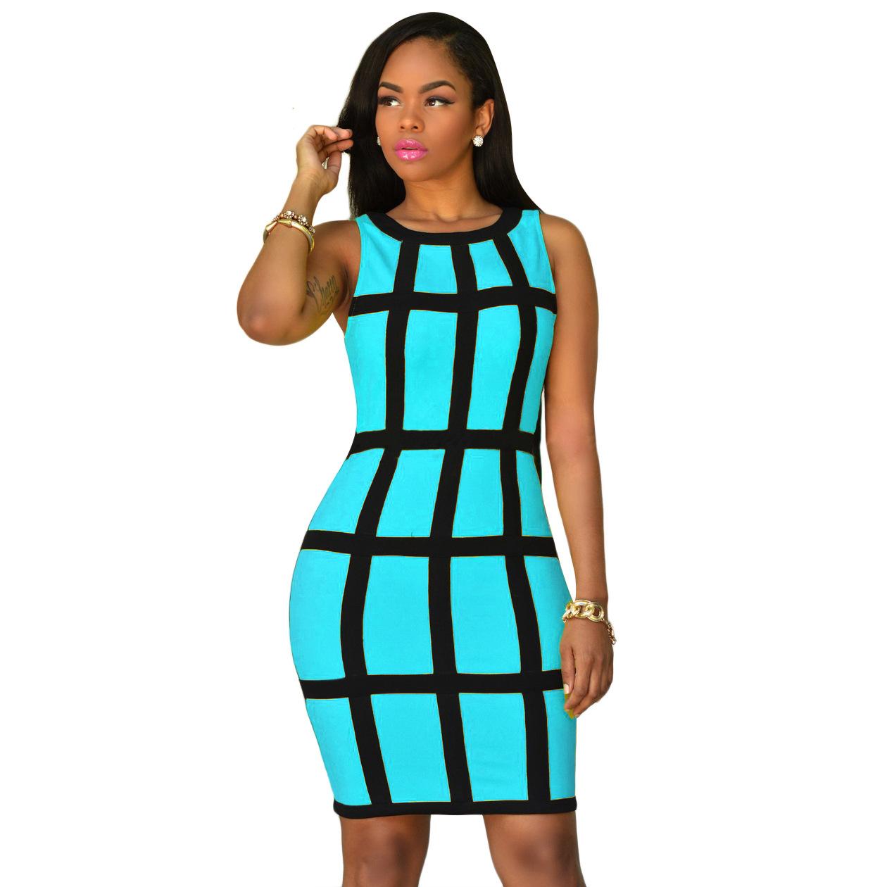 d8fad6dee961 US  5.98 - Geometric Sexy Bodycon Dress 20858-1 - www.global-lover.com