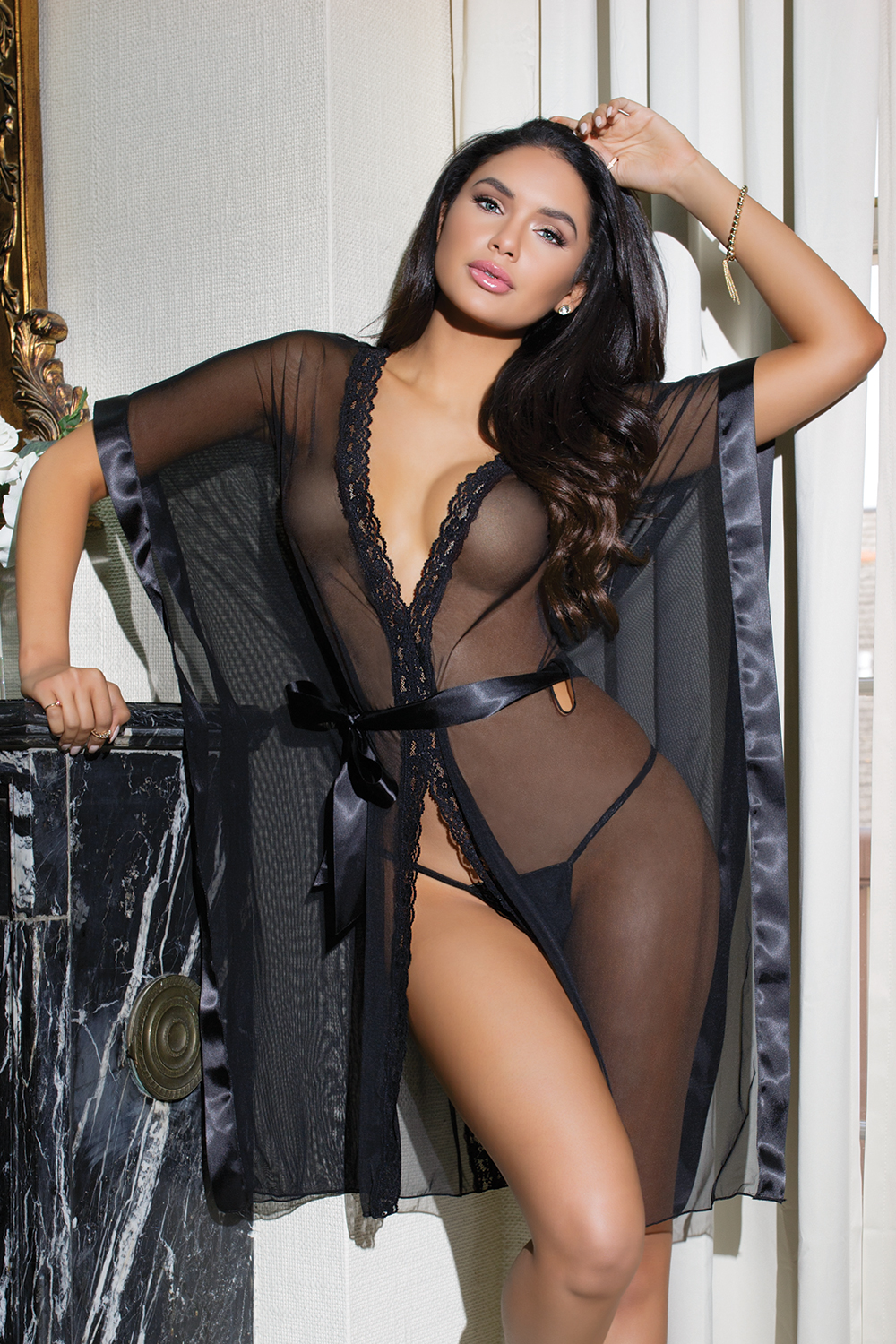 98f73b5ad40 US  6 - Black Lace Two-Piece Lingerie 27433 - www.global-lover.com