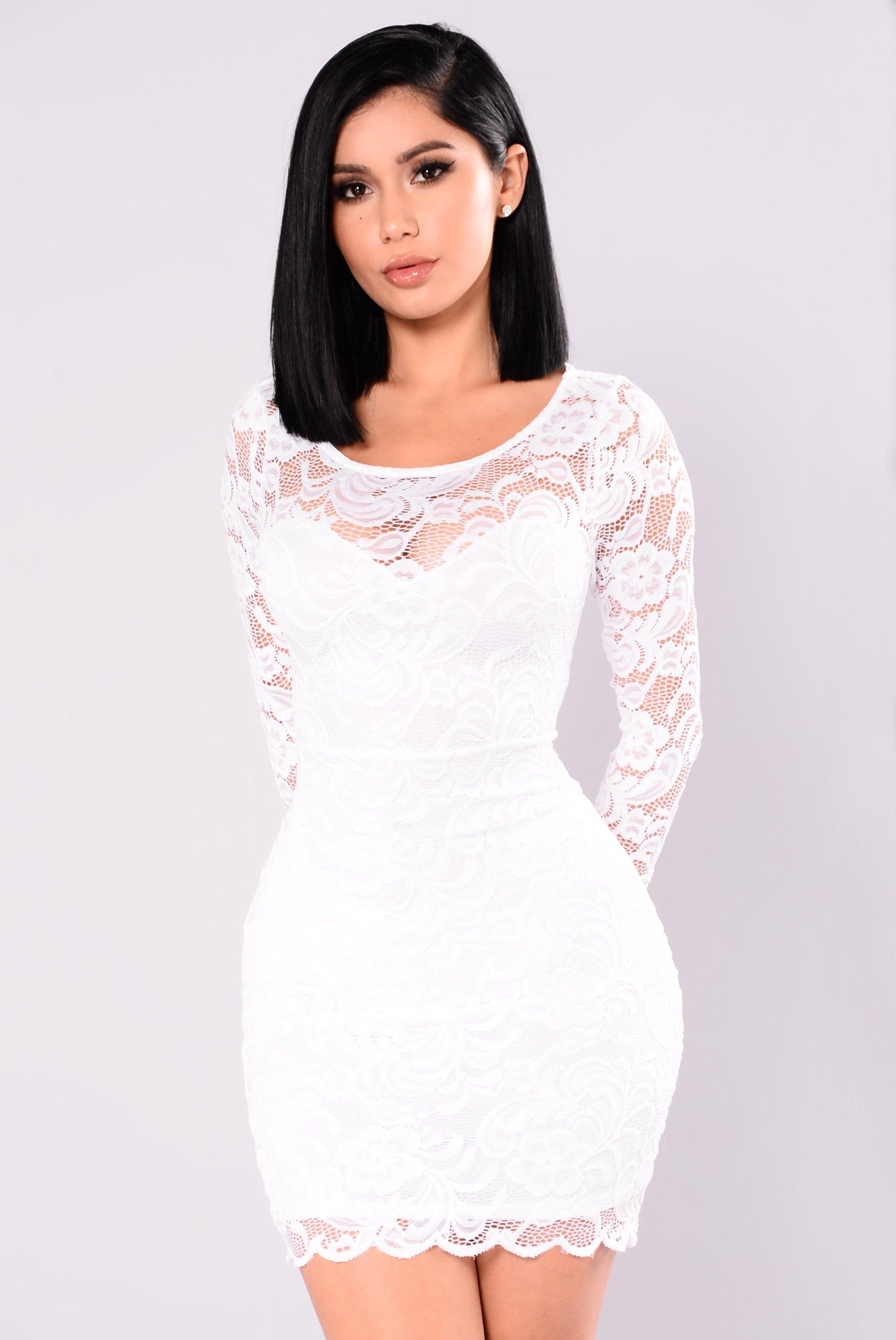0c2706217d5 US  7.5 - White Lace Mini Dress 27233-2 - www.global-lover.com