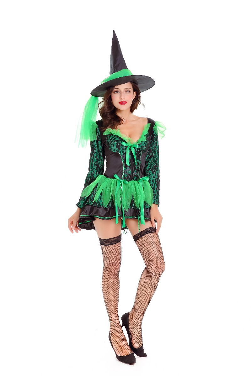 Green Witch Costume for Halloween 27337 Item NO SA_10021  sc 1 st  Global Lover & US$ 14.7 - Green Witch Costume for Halloween 27337 - www.global ...