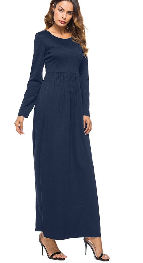 a55000aec3ee US  6.18 - Ankel-Length Modest Plain Long Dress with Sleeves - www ...