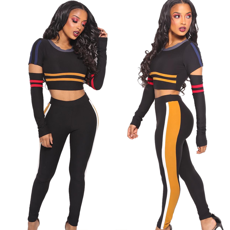 f31c810a2843c US  9.79 - Strippes Black Ripped Crop Top and Pants - www.global ...