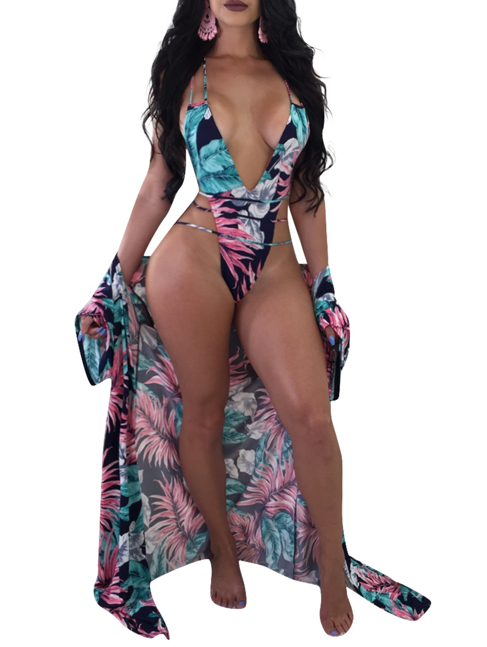 67f7e071289 US  10.65 - Sexy Floral One-Piece Swimwear and Cover-Ups -  www.global-lover.com