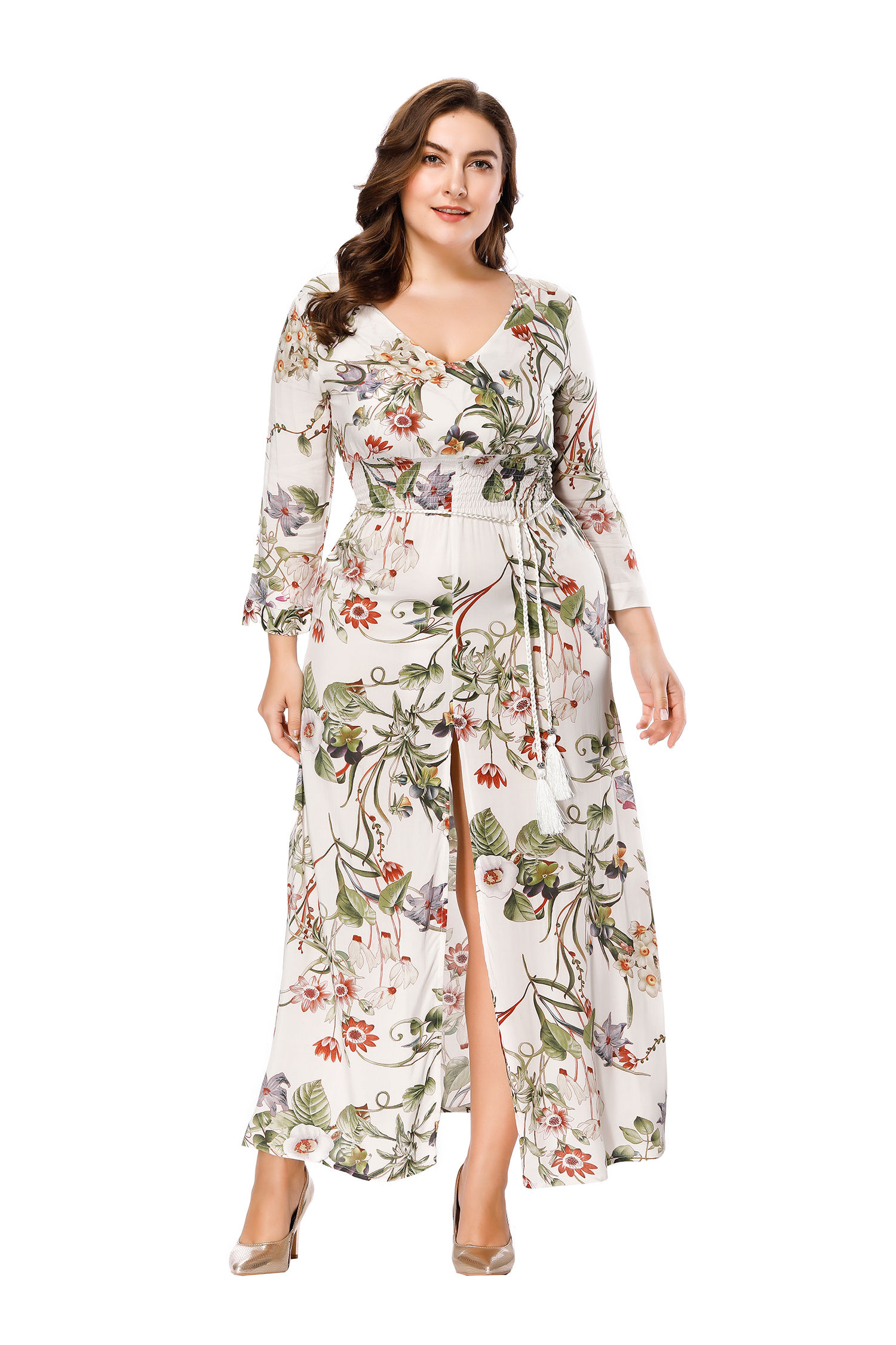 b01486ab244 US  12.56 - Plus Size Long Sleeve Floral Maxi Dress - www.global ...