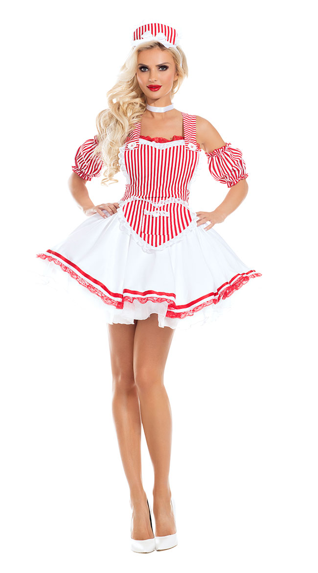 US$ 10.43 - French Maid Sexy Costumes for Halloween - www.global-lover.com