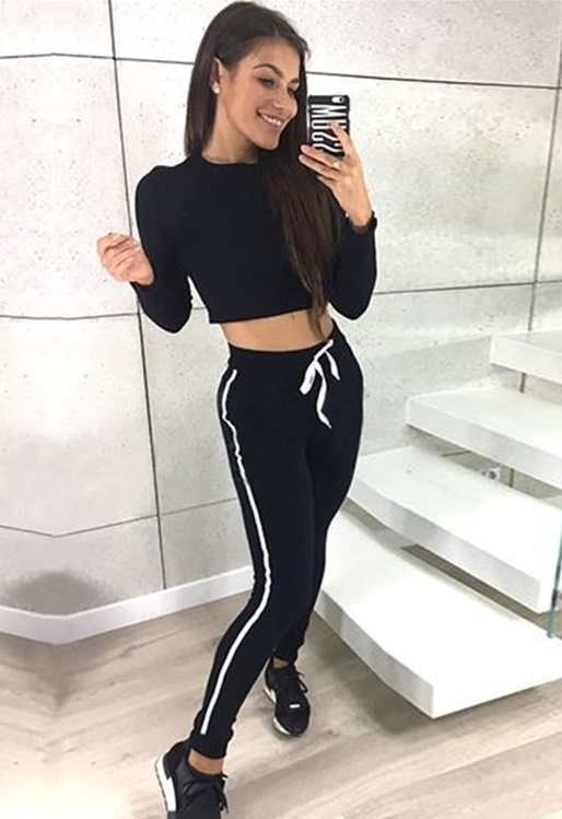 c9f965104205d US  8.52 - Gym Long Sleeve Crop Top and Pants - www.global-lover.com