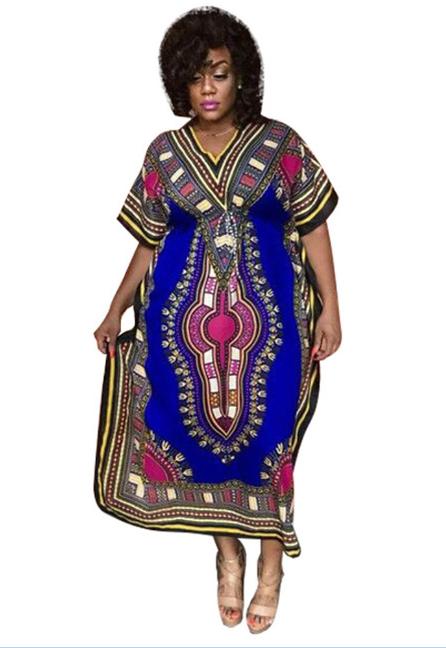 3ad6a5ba5c6 US  9.15 - Short Sleeve African Dashiki Maxi Dress - www.global-lover.com