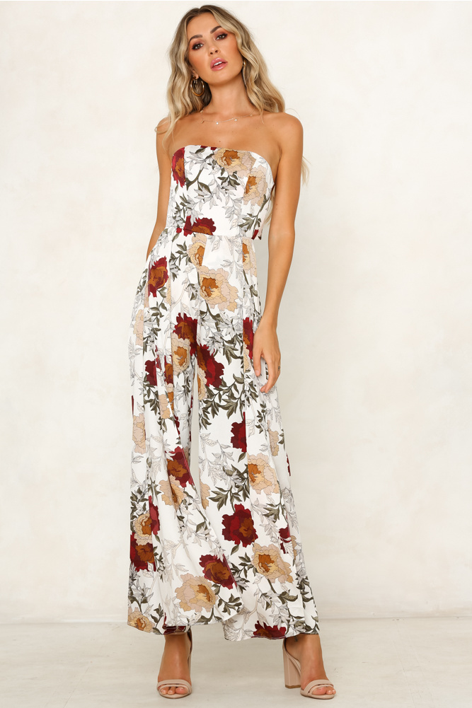 9b00e3a11ea US  6.39 - Wide Legges Strapless Floral Jumpsuit - www.global-lover.com