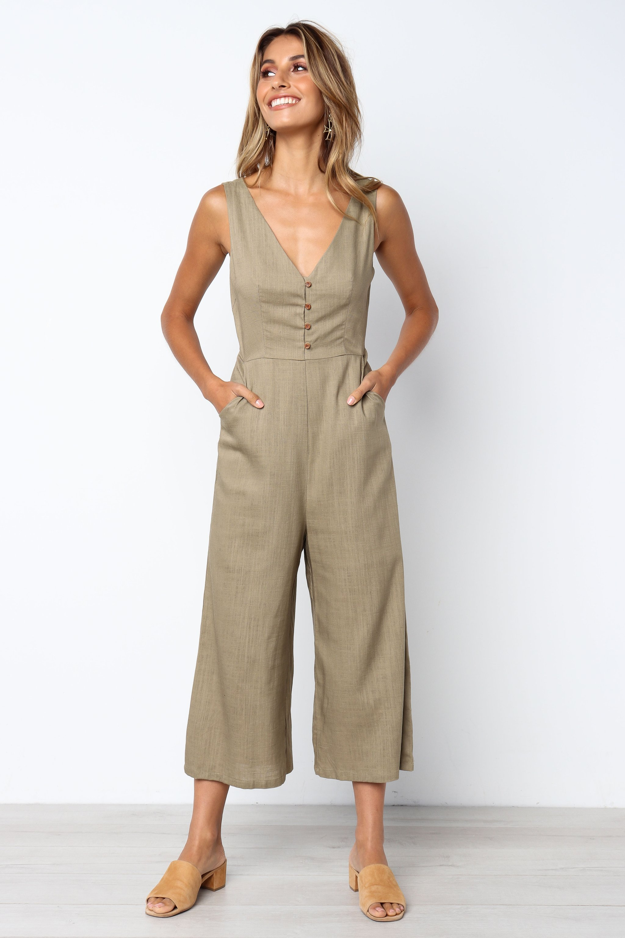 fdc5112df23 US  7.88 - Wide Legges Straps Plain Jumpsuit - www.global-lover.com
