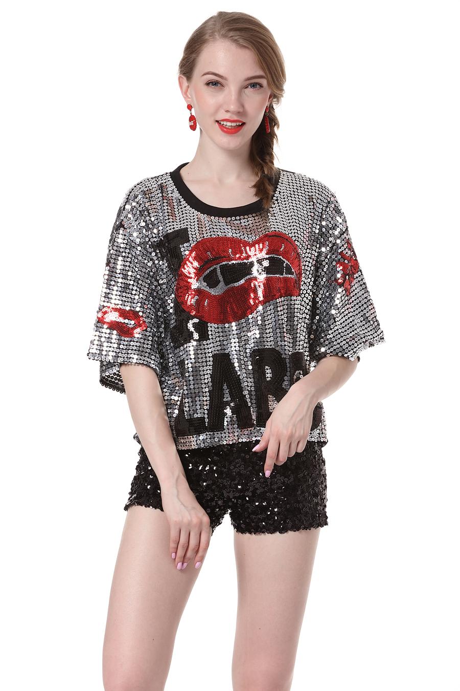 b442dcaadf US   9.79 - 1   2 Camisa de Manga Lantejoulas - www.global-lover.com