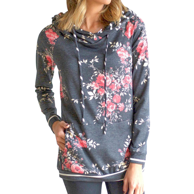 Sweater met lange mouwen en bloemenprint