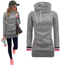 Young Fashion Long Blank Hoody with Pockets 26661-3