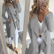 Long Irregular Gray Coat 26718-2