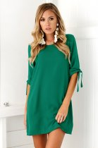 Pure Breif Short Dress with 1/2 Sleeves 26376-4
