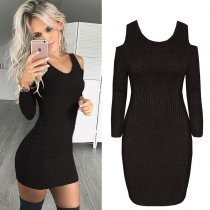 Cut Out Shoulder Curvy Dress  27837-1