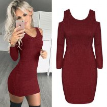 Cut Out Shoulder Curvy Dress  27837-3