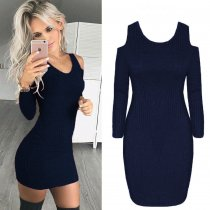 Cut Out Shoulder Curvy Dress  27837-2