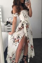 Sexy Strapless Long Floral Rompers