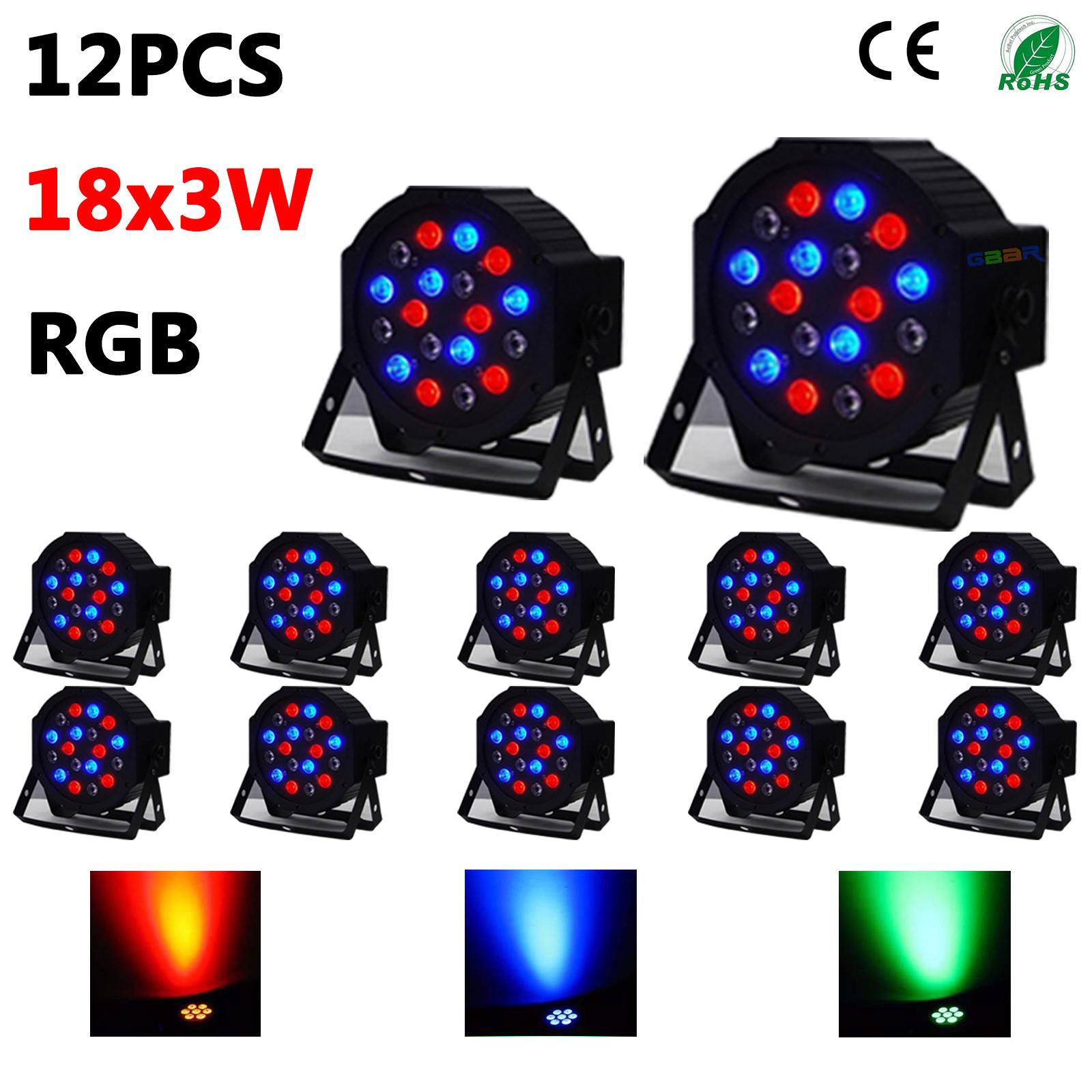 12PCS 18X3W Stage DMX 512 RGB LED PAR LIGHT For DISCO Party 54W +FEDEX SHIPPING Item NO 372352  sc 1 st  gbar led light bar & US$ 133.99 - 12PCS 18X3W Stage DMX 512 RGB LED PAR LIGHT For DISCO ... azcodes.com