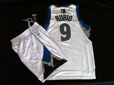 Timberwolves #9 suit white