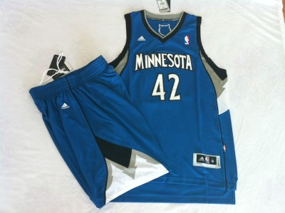 Timberwolves suit #42 blue