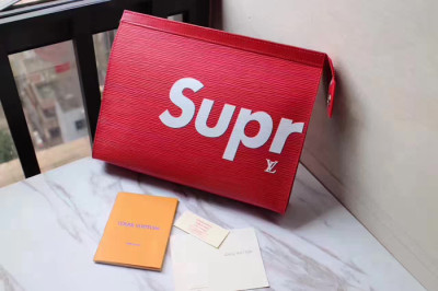 Supreme X LV Handbag Red