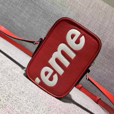Supreme X LV Shoulder Mini Bag Red