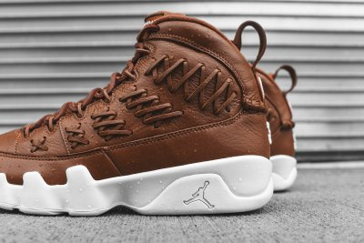 Authentic Air Jordan 9s Baseball Glove Brown