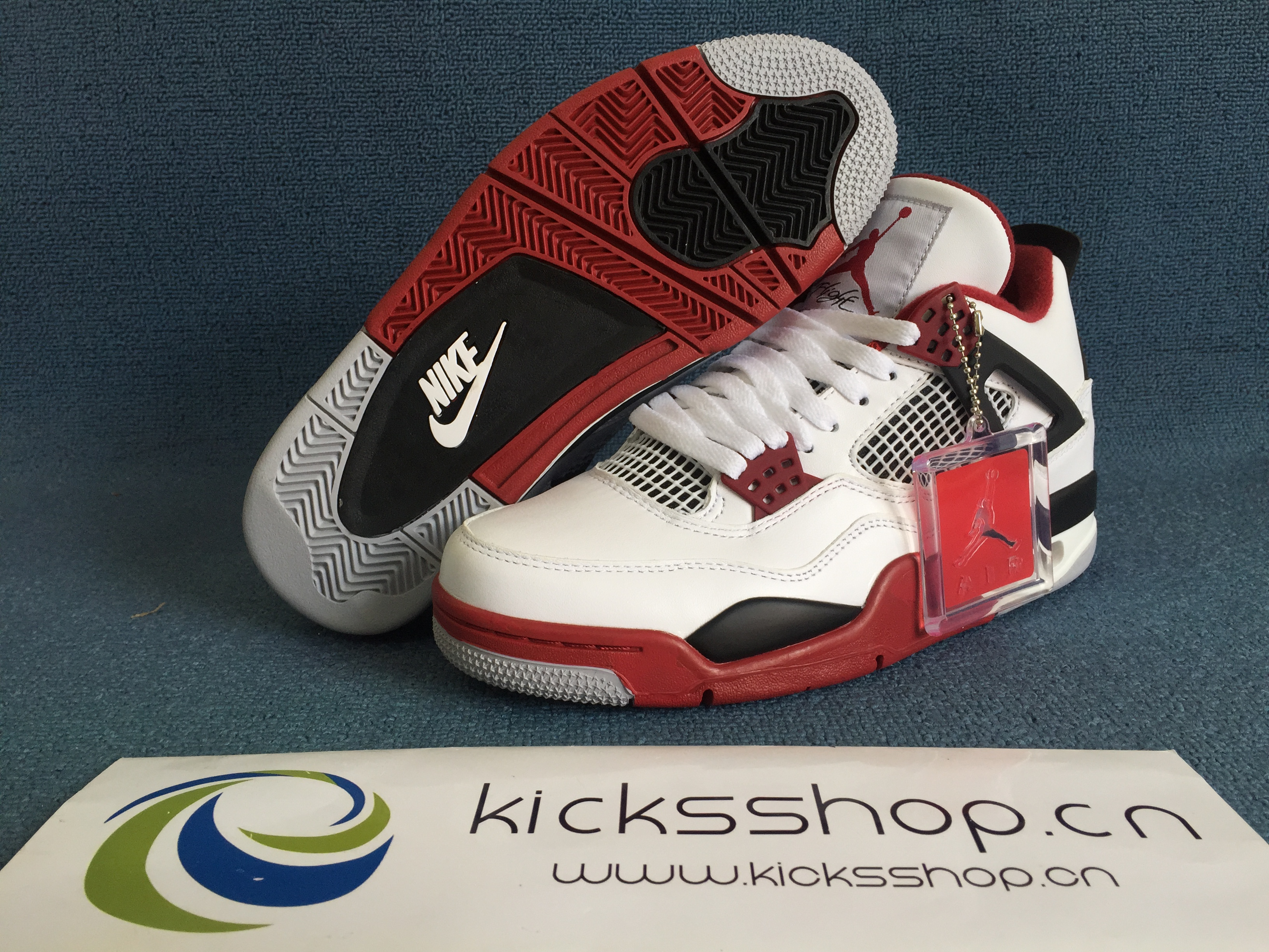 """top fashion e0bc4 8355d Authentic Air Jordan 4 Retro OG """"Fire Red"""". Loading zoom"""