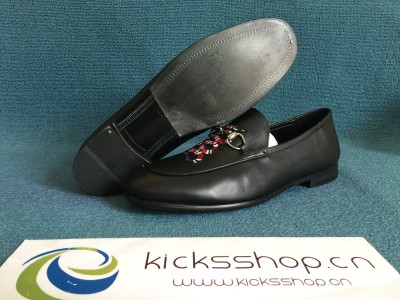 Leather loafer with Kingsnake