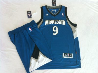 Timberwolves suit #9 blue