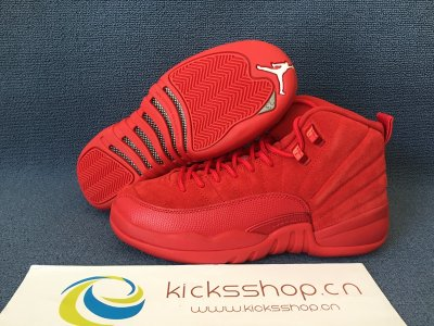 Authentic Air Jordan 12 GS  Retro Premium Red Suede