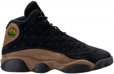 Authentic Air Jordan 13s Black/Olive