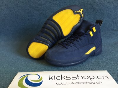 "Authentic Air Jordan 12s ""Michigan"""