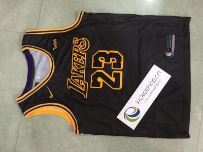 Los Angeles Lakers #23 LeBron James Black Stitched NBA Jersey